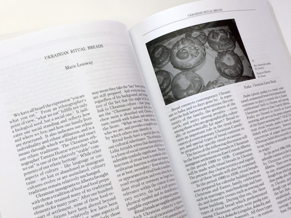 """Ukrainian Ritual Breads"" article in the Migrations conference publication, a Storyphile people story example."