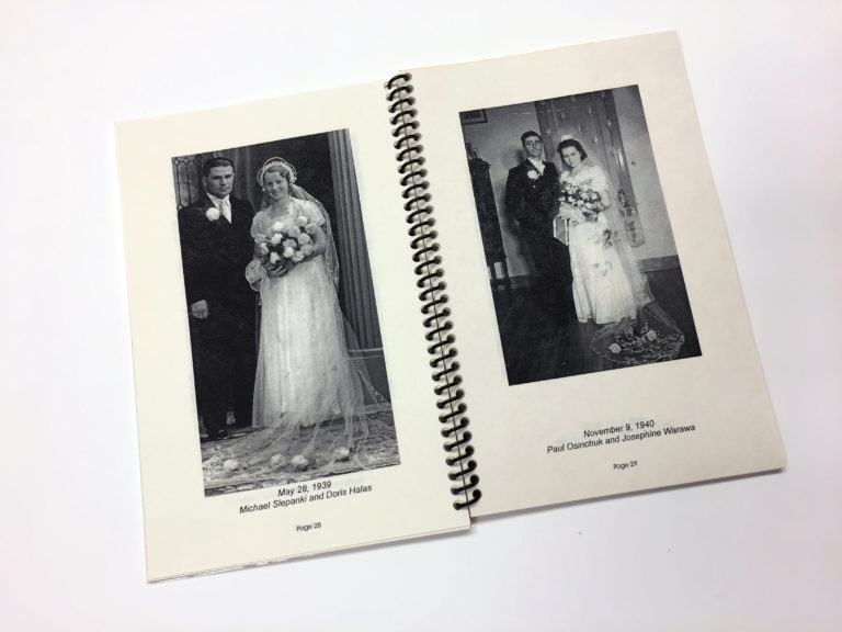 Inside pages from The Sacred Sacrament of Marriage book, a Storyphile editing project.