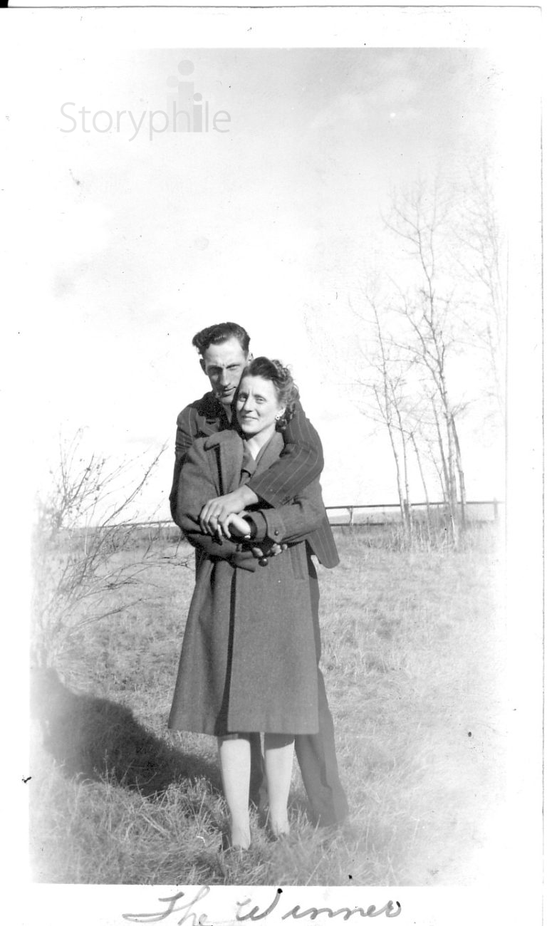 "Nicholas and Josephine (nee Fill) Lesoway circa 1945. Nick and Jo are the subjects of ""My Marriage,"" a Storyphile editing example."